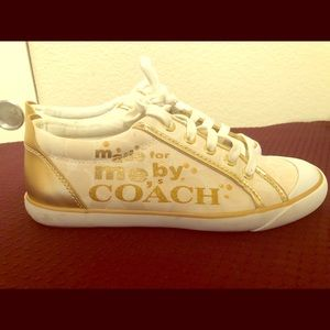 Coach canvas sneakers size 8.0 B